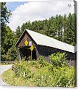 Rustic Vermont Covered Bridge Acrylic Print