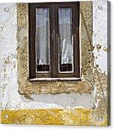 Rustic Window Of Medieval Obidos Acrylic Print