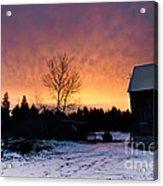 Rustic Winter Sunrise Acrylic Print