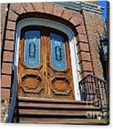 Rustic Wood Charleston Door Acrylic Print