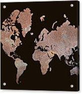 Rustic World Map Acrylic Print