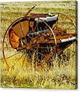 Rusting Farm Equipment Acrylic Print