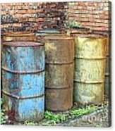 Rusting Oil Barrels Acrylic Print