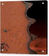 Rusting Orange Gear   #0007 Acrylic Print