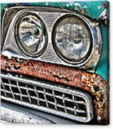 Rusty 1959 Ford Station Wagon - Front Detail Acrylic Print