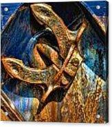 Rusty Anchor Acrylic Print