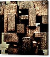 Rusty Art Acrylic Print by Joan Carroll