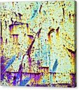 Rusty Background Acrylic Print