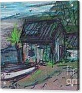 Rusty Boathouse Acrylic Print