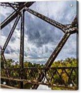 Rusty Bridge In Fall Acrylic Print