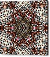Rusty Chain Link Kaleido Acrylic Print
