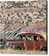 Rusty Chevrolet Special Deluxe In Manila Utah Acrylic Print