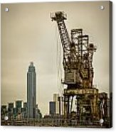 Rusty Cranes At Battersea Power Station Acrylic Print