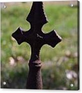 Rusty Cross Acrylic Print by Kelly Kitchens
