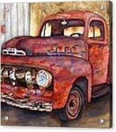 Rusty Crusty Ford Truck Acrylic Print