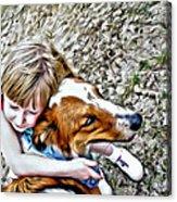 Rusty Dog Love Acrylic Print