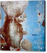 Rusty Door Abstract Acrylic Print