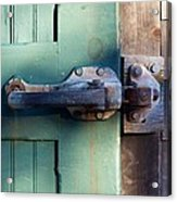 Rusty Door Latch Acrylic Print