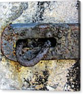 Rusty Dusty And Grimy Lock Plate Acrylic Print