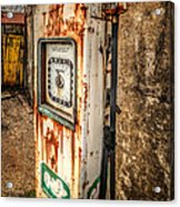 Rusty Gas Pump Acrylic Print