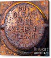 Rusty Gas Tank Cap Acrylic Print