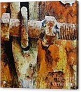 Rusty Gate Acrylic Print