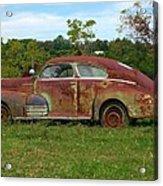 Rusty Gold Acrylic Print