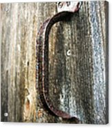 Rusty Handle Acrylic Print