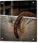 Rusty Horseshoe Acrylic Print