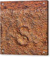 Rusty Letters Usa Acrylic Print