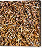 Rusty Nails Abstract Art Acrylic Print