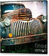 Rusty Old Chevy Pickup Acrylic Print