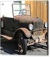 Rusty Old Ford Jalopy 5d24641 Acrylic Print by Wingsdomain Art and Photography
