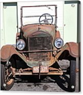 Rusty Old Ford Jalopy 5d24642 Acrylic Print by Wingsdomain Art and Photography