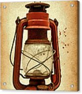 Rusty Old Lantern On Aged Textured Background E59 Acrylic Print