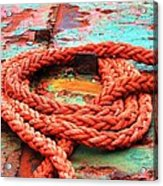 Rusty Old Ship Acrylic Print