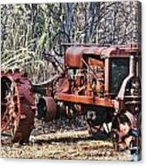 Rusty Old Tractor Acrylic Print