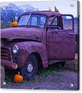 Rusty Truck With Pumpkins Acrylic Print