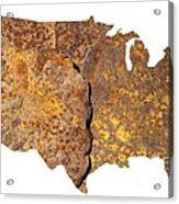 Rusty Usa Map Acrylic Print