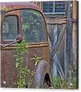 Rusty Vintage Ford Panel Truck Acrylic Print