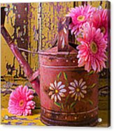 Rusty Watering Can Acrylic Print