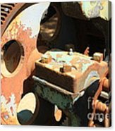 Rusty Wheel Gear Acrylic Print