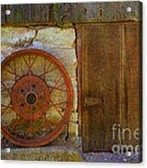 Rusty Wheel Acrylic Print