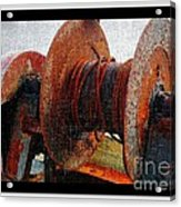 Rusty Winch  Acrylic Print