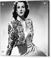 Ruth Warrick, Ca. Late 1940s Acrylic Print