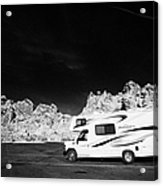 Rv Camping Van Parked At Valley Of Fire State Park Nevada Usa Acrylic Print