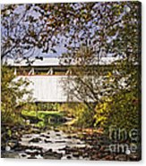 Ryot Covered Bridge And Stream Acrylic Print