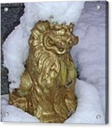 Ryukyuan Shisa Dog With Snow-hawk Acrylic Print