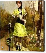 Sa Majeste La Parisienne Acrylic Print by Alfred Stevens