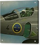 Saab Viggen Gruppo 4 Cockpit Acrylic Print